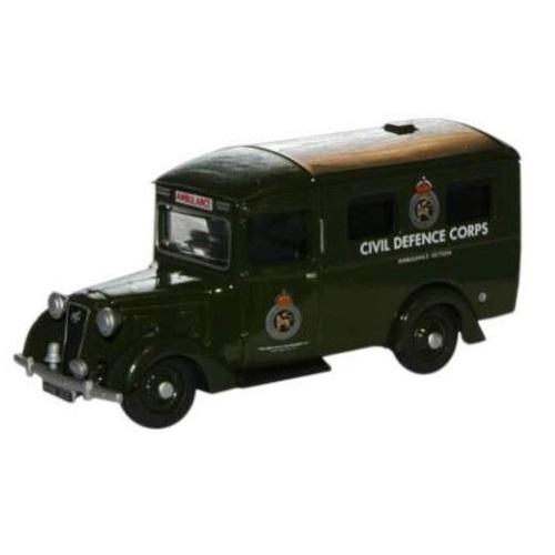 Oxford Diecast  76AMB002 - Austin 18 Ambulance Civil Defence Corps (1.76)