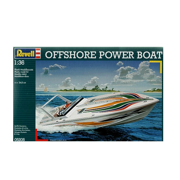 Revell 05205 -  Offshore Power Boat  - Scale 1.36