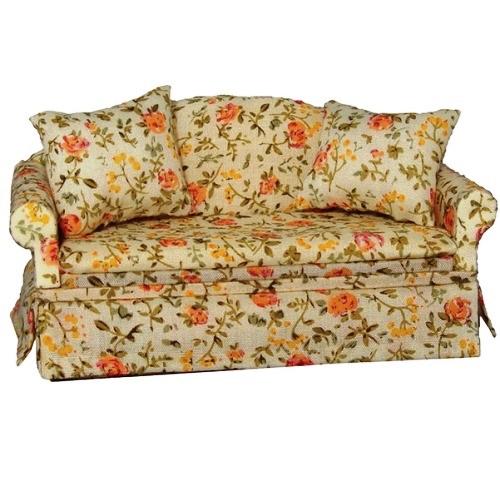 DF1478 - Cream Floral Sofa