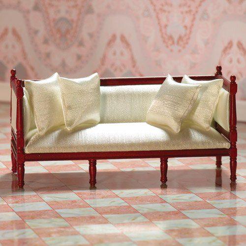 DH 7216 - Cream Silk Louis XVI Sofa (M)