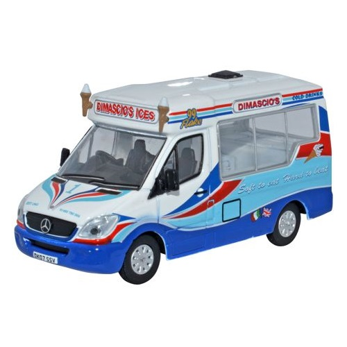 Oxford 76WM002 - Dimascios Whitby Mondial Ice Cream Van