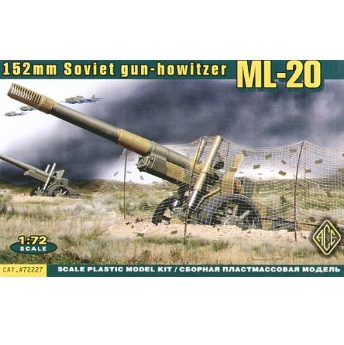 ACE 72227 - 152mm Soviet Gun-Showitzer WW11 - Scale 1.72