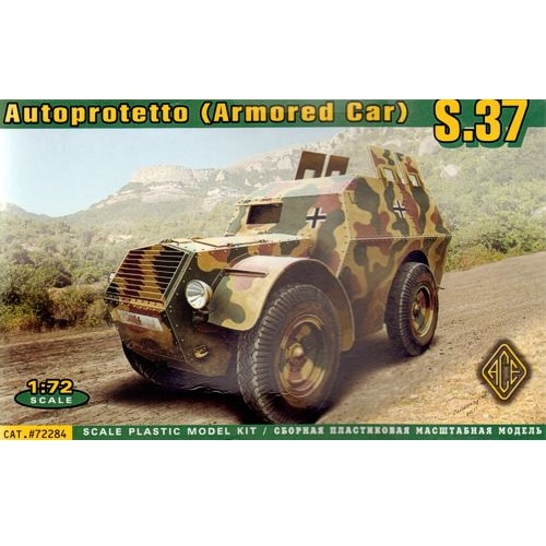 ACE 72284 - Autoprotetto S.37 (Armoured Car) - 1.72