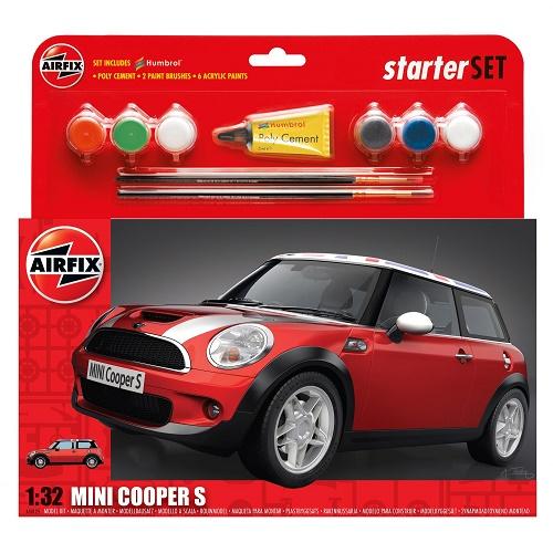 Airfix 50125 - MINI Cooper S Starter Set  - Scale 1.32