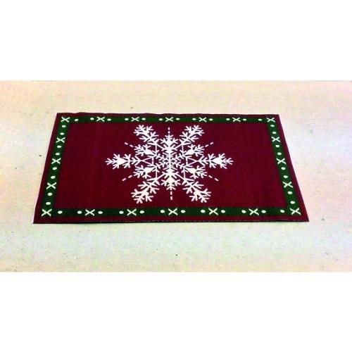 DH 1092 - Snowflake Christmas Rug - Scale 1.12