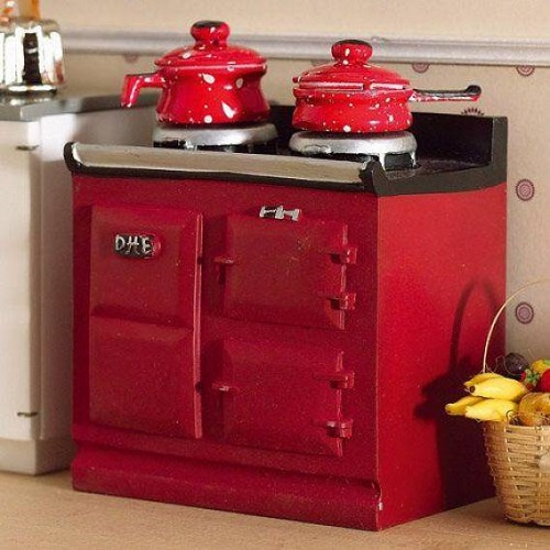 DH 2941 - Red Aga-style Stove