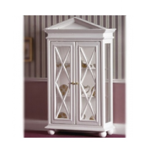 DH 3439 - White Cabinet with Glass Doors