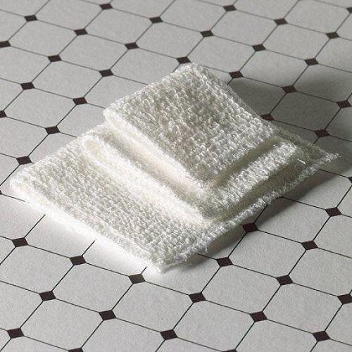 DH 4202 - White Fluffy Towel Set, 3 pcs
