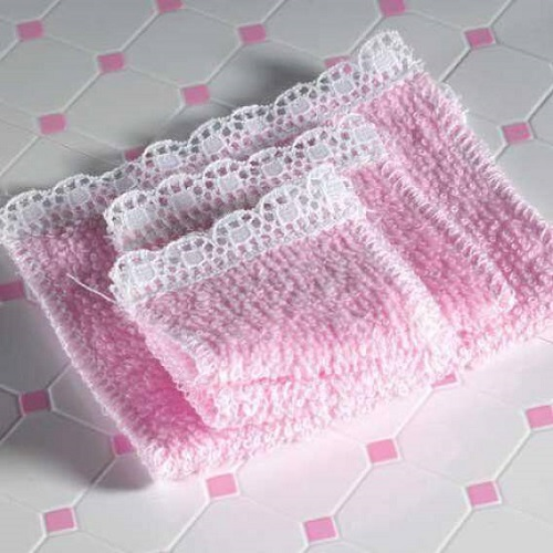DH 4676 - Pink Towel Set, 4 pcs