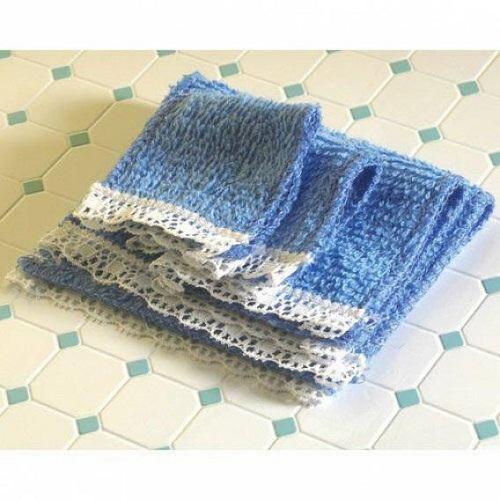 DH 4677 - Blue Towel Set, 4 pcs