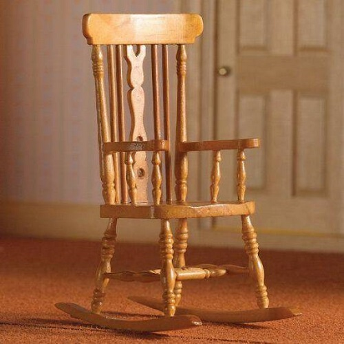 Dolls House Country Pine Rocking Chair - Scale 1:12 - RB ModelsRB ...