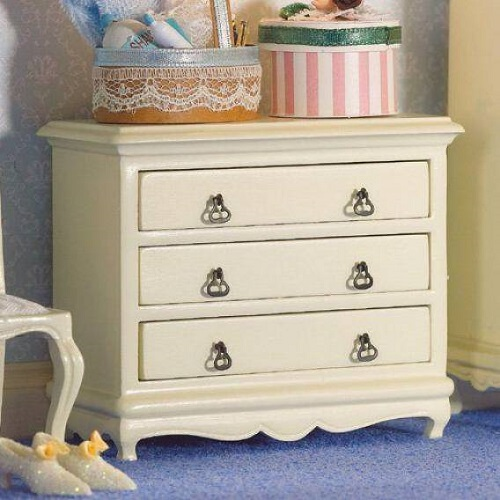 DH 5693 - French-style Cream Chest of Drawers