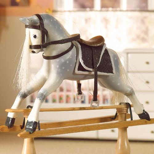 DH 5723 - Dapple Grey Working Rocking Horse -