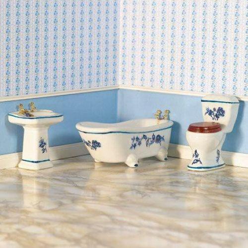 DH 7145 - Blue Floral Bathroom Suiter