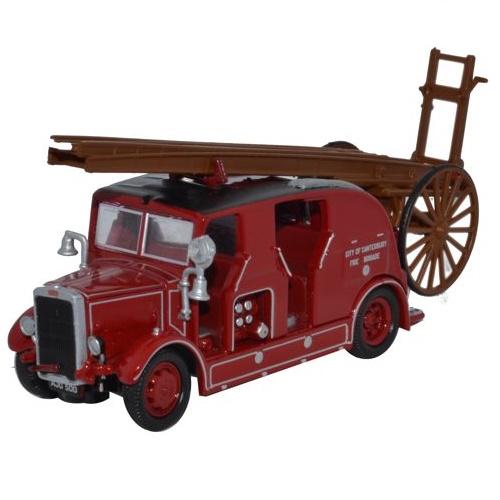 Oxford 76LC002 - Leyland Cub FK7 City of Canterbury Fire