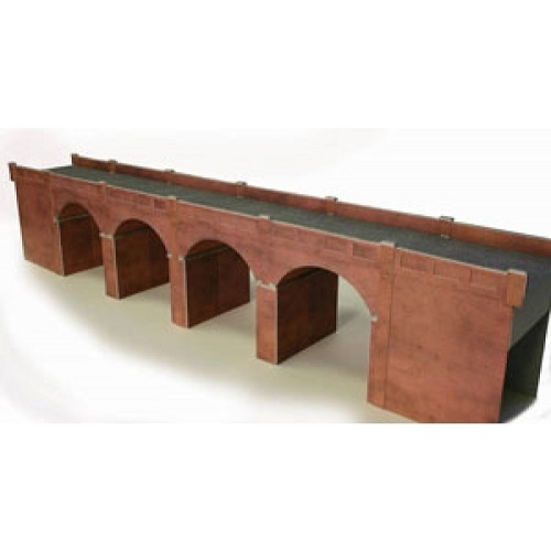 Metcalfe PO240 -  Double Track Viaduct Red Brick