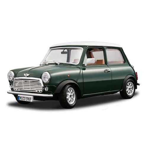 wallpaper for bathrooms bburago mini cooper 1969 green rb models 12036