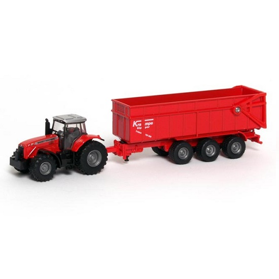 Siku Massey Ferguson 8480 Tractor with Krampe Trailer