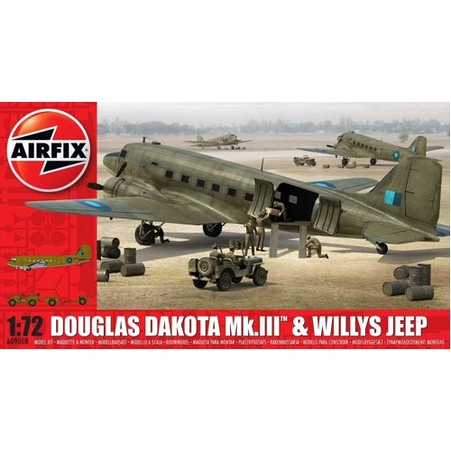 Airfix 09008 - Douglas Dakota MKIII with Willy's Jeep and 75mm howitse