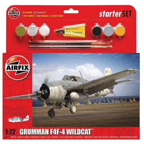 Airfix 55214 - Grumman Wild Cat Starter Set - 1.72