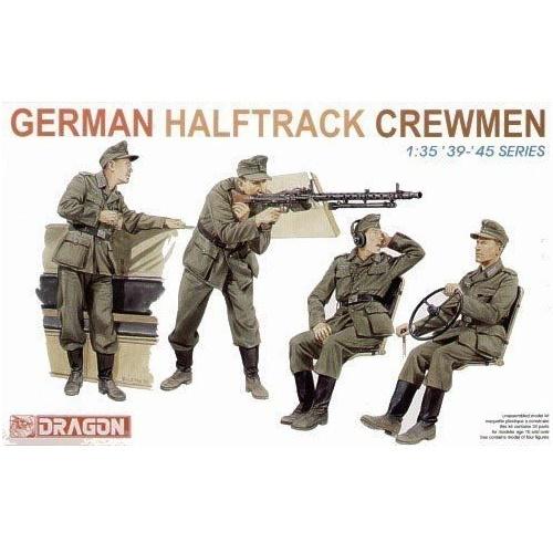 Dragon 6193 - German Halftrack Crewmen - 1.35
