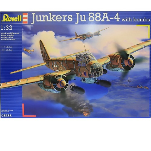 Revell 03988 - Junkers JU 88A-4 with bombs - Scale 1.32