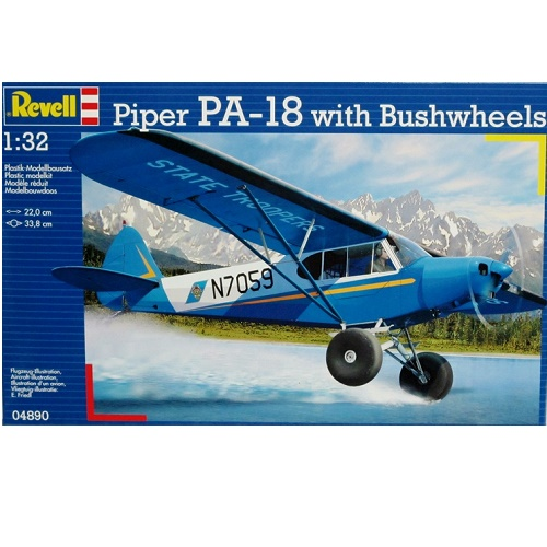 Revell 04890 - Piper PA-18 with Bushwheels - Scale 1.32