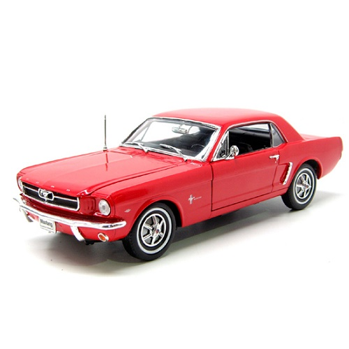 Welly 12519 - Ford Mustang - Red - 1964 - 1.18