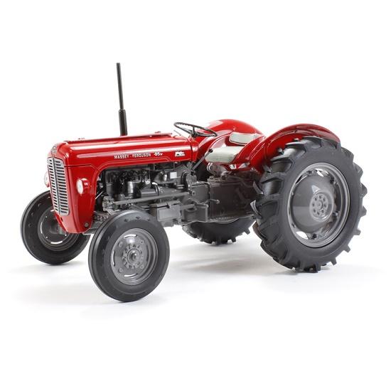 Universal Hobbies 4141 - Massey Ferguson 35 1959 Red With Grey wheels