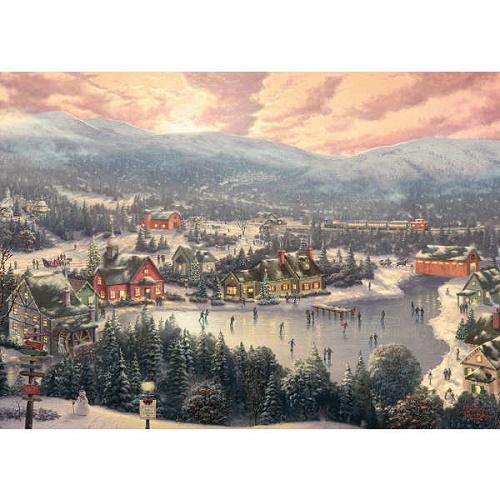 gib6181-sunset-on-snowflake-lake-1000-piece