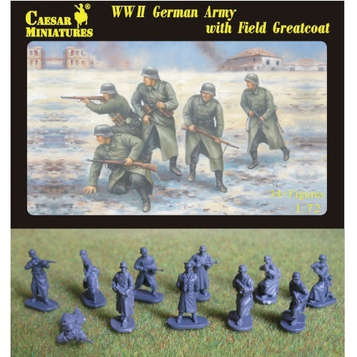 Caesar Miniatures CMH069 - German Infantry (WWII) Army with Field Greatcoat WWII -