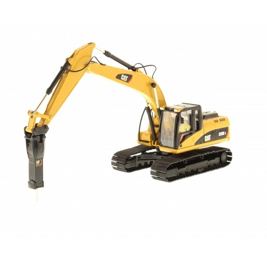 Diecast Masters 85280 - Cat 320D Hydraulic Excavator with Hammer